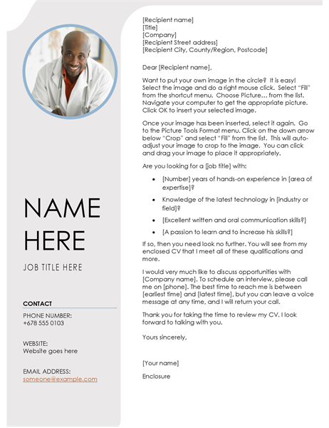 Blue grey cover letter