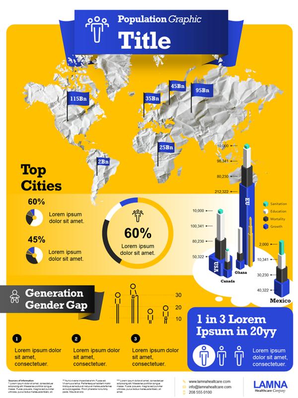 Population infographics poster