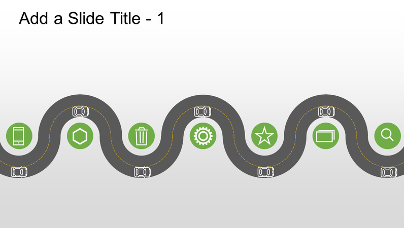 Road graphic progression timeline