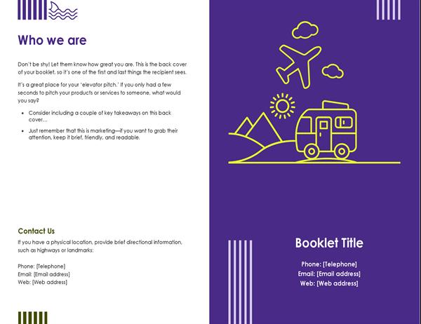 Travel booklet