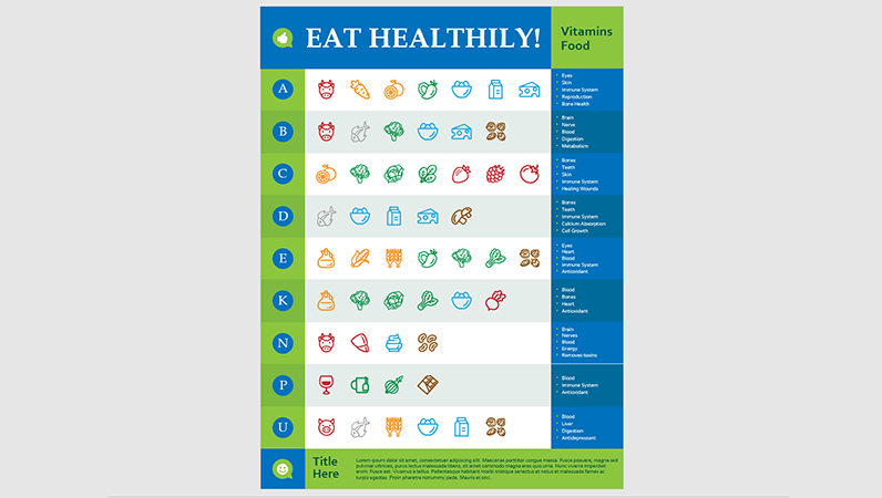 Nutrition infographics poster