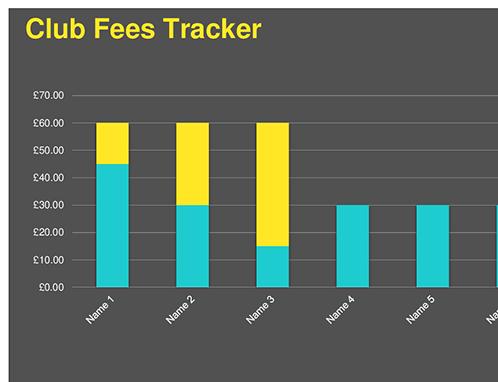 Club fees tracker