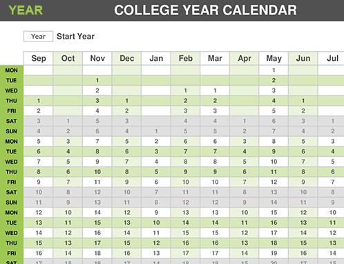 University year calendar