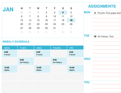 calendars - office, Modern powerpoint