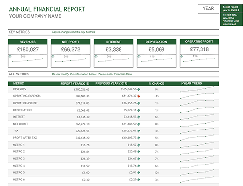 Annual Financial Report  Financial Balance Sheet Template