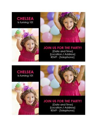 Birthday Party Invitation Postcard  Invitation Template Publisher