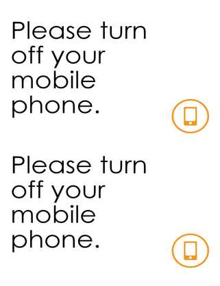 Cell phone off reminder
