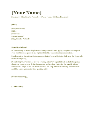resumes and cover letter