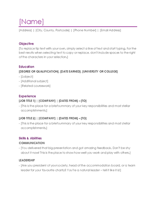 More Templates Like This  Resume Reference List