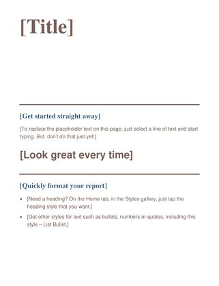 Write a paper