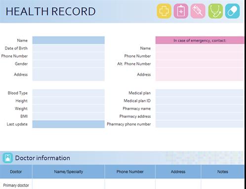 My family's health record