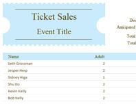 Ticket sales tracker