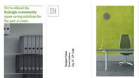 Tri-fold business brochure (green, black design)