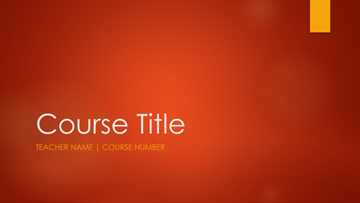 Academic course overview (widescreen)