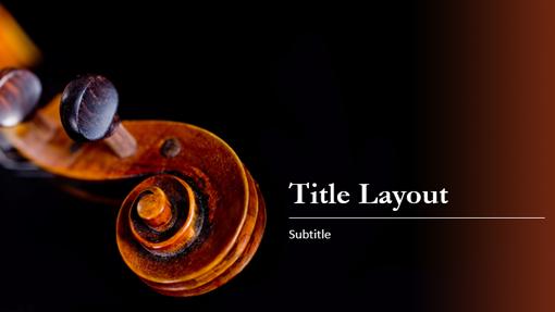 Music Score Presentation Treble Clef Design