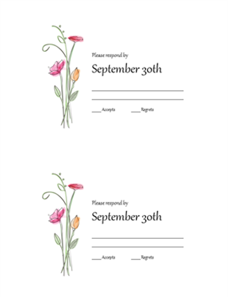 RSVP cards (Watercolor design)