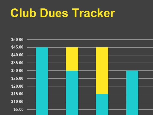 Club dues tracker