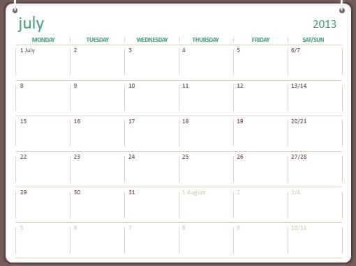 2013-2014 academic calendar (July-June)