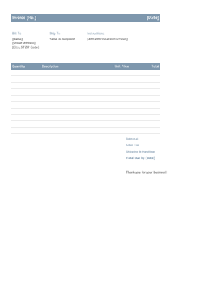 Business invoice (Timeless design)