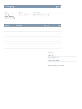 Business invoice (Timeless design)
