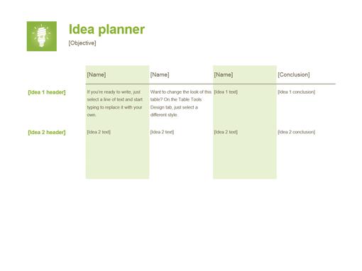 Idea planner