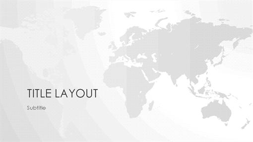 World maps series, World presentation (widescreen)