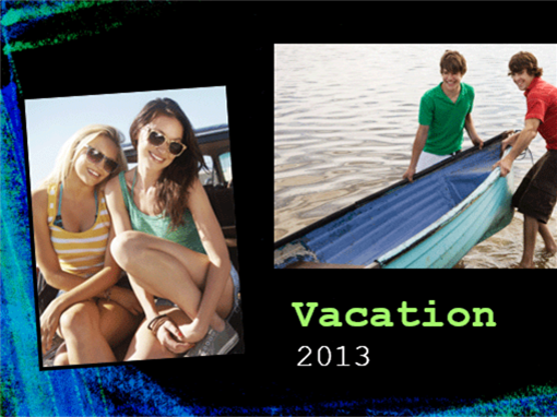 Vacation photo album (chalk design)