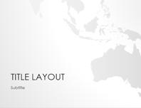 World maps series, Australia presentation (widescreen)