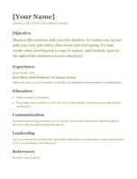 Resume (green)