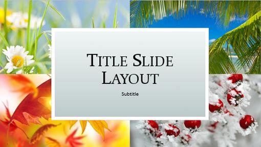 Four seasons nature presentation (widescreen)