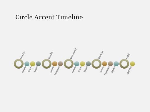 Timeline SmartArt diagram slide (white on dark gray, widescreen ...