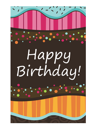 birthday card dots and stripes kids half fold