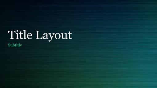 green brushed metal presentation (widescreen) - office templates, Presentation templates