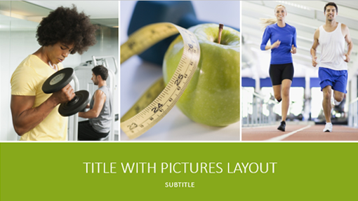 health and fitness presentation (widescreen) - office templates, Powerpoint templates
