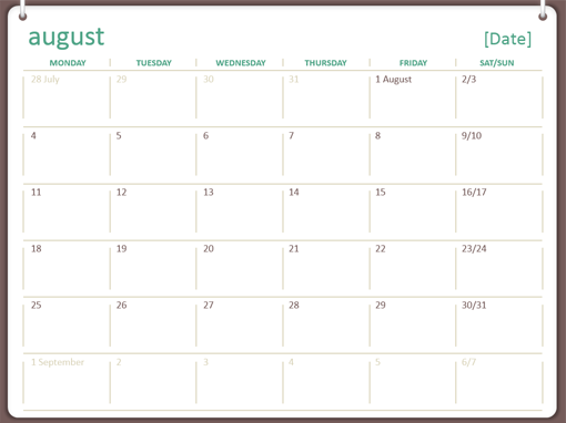 2014 2015 Academic Calendar (August July)