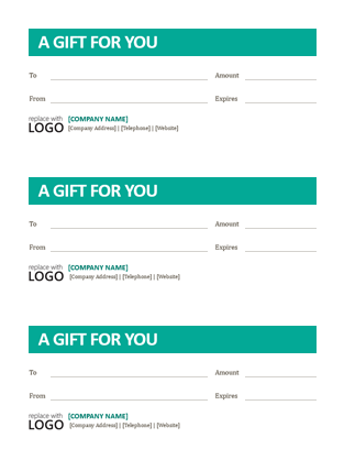 Small Business Gift Certificates  Business Certificates Templates