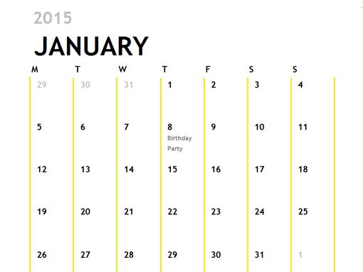 12-Month Calendar