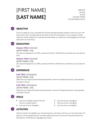 Student Resume (Modern Design)  Registered Nurse Resume Template