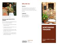 Business tri-fold brochure