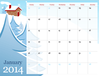 2014 illustrated seasonal calendar (Sun-Sat)