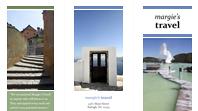 Tri-fold travel brochure (blue, green)