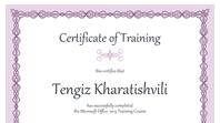 Certificate of training (purple chain design)