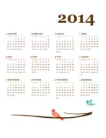 2014 annual calendar