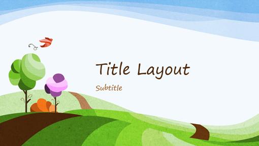 Nature presentation, illustrated landscape design (widescreen)