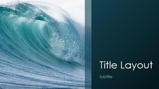 Ocean waves nature presentation (widescreen)