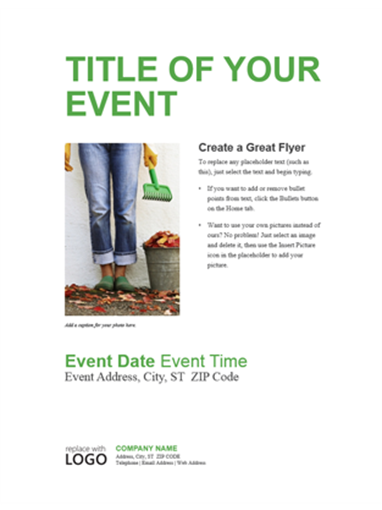 Small business flyer (green design)