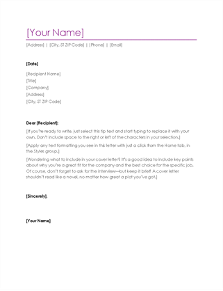 How to write a cover letter of cv