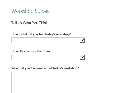 Workshop survey