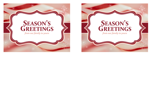 Christmas cards (candy cane swirls design, 2 per page)