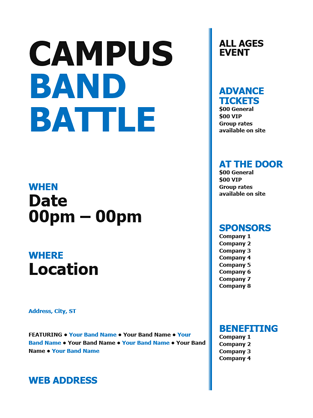 Student flyer (black and blue bold design)